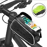 FishOaky-Borsa-Telaio-Bici-Impermeabile-Borsa-da-Manubrio-per-Biciclette-Touch-Scree-Porta-Telefono-MTB-Borsa-Porta-Cellulare-Bici-Borse-Biciclette-per-iPhone-XSXSamsung-S9S8-Fino-a-65
