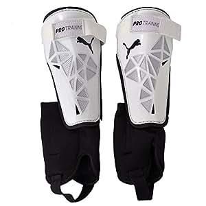 PUMA protège-tibias pro training grd ankle M Blanc - white-Metallic silver-Black