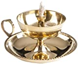 Berk KH-608 Räucher-Zubehör - Ghee-Lampe, Messing, 8 cm