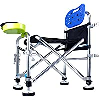 TSJT Silla de pesca, silla de brazo al aire libre plegable taburete ligero portátil para picnic barbacoa esbozo de pesca , B