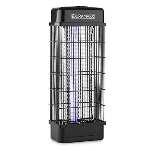 DURAMAXX Mosquito Buster 5000 Lámpara antimosquitos Matainsectos UV Luz negra (15W potencia, mata mosquito mosca bicho, bajo consumo, fácil limpieza insectos muertos, descarga eléctrica, exterminador eléctrico alta tensión)