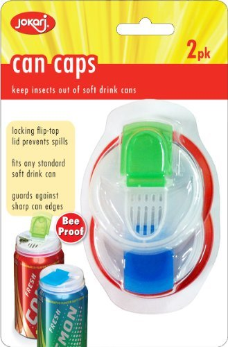 Jokari Beverage Deluxe Can Caps Soda pop Lids - KEEPS INSECTS OUT OF your Drink,Colors/Styles May Vary, by Harold Imports