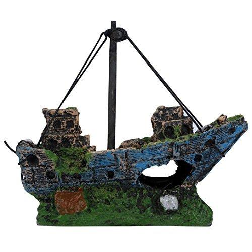 nabati Fisch Tank Aquarium Ornament Wrack Segelboot Gesunkenes Schiff Decor Zubehör Gesunkenes Schiff Dekorationen