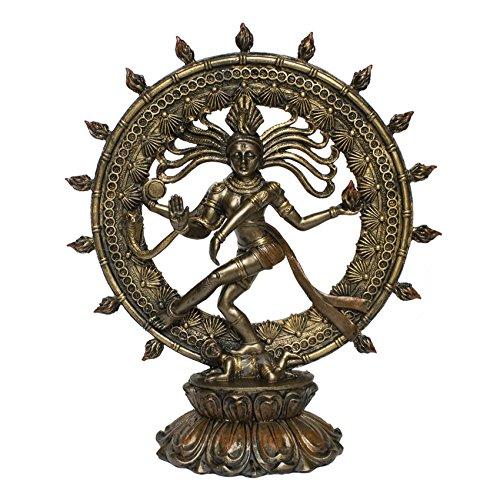 Tanzender Shiva im Feuerkreis,  Nataraja, nach antikem Vorbild, handbemalt