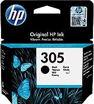 HP 305 3YM61AE, Negro, Cartucho Original de Tinta, Compatible con impresoras de inyección de Tinta HP DeskJet