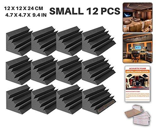 Preisvergleich Produktbild Ace Punch 12 Stücke Bass Trap Absorber Akustikschaumstoff DIY Entwurf Mit Freiem Klebestreifen 12 X 12 X 24 cm (4.7 X 4.7 X 9.4 in) AP1133