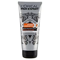Idea Regalo - L'Oréal Paris Men Expert Crema Corpo Uomo Hydra Energetic X Crema Specifica per Tatuaggi, 200 ml