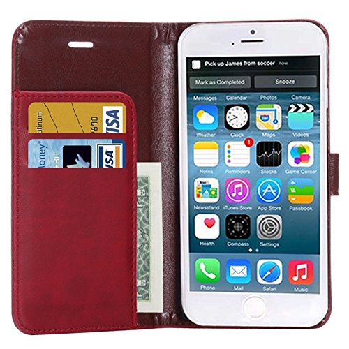 Phone case & Hülle Für IPhone 6 Plus / 6S Plus, Crazy Horse Texture Horizontale Flip Leder Tasche mit Card Slot und Halter ( Color : Brown ) Blue