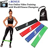 Resistance Loop Bands for Women and Men PrimaFit Set of 4 Premium Exercise Bands - BONUS FREE - Online Video Training Lifetime Guarantee Light to Extra Heavy Best for Home and Outdoor Fitness Workout Resistance Bands Yoga Pilates Physical Therapy Rehabilitation Made Of Natural Latex Material Carry Bag Included