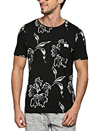 Abof Men Black Printed Regular Fit T-shirt