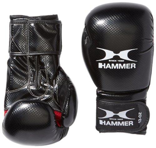 Hammer Boxhandschuhe X-Shock, Schwarz/Rot, 14 OZ, 95314