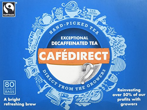 Cafédirect Fairtrade Decaffeinated Everyday Tea 80s (Pack of 2, Total 160 Teabags)