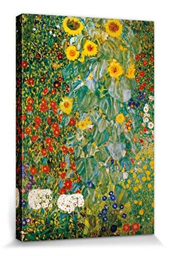1art1 60783 Gustav Klimt - Bauerngarten Mit Sonnenblumen, 1905-06 Poster Leinwandbild Auf Keilrahmen...