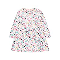 Mothercare Girl's Floral Dress Short Sleeve, Pink, 9-12 Months (Manufacturer Size:80)