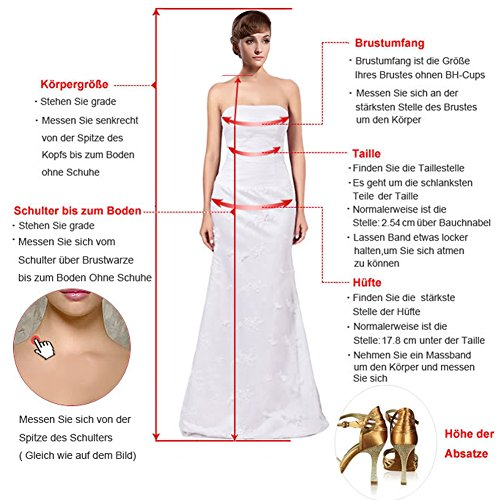 Toscana sposa elegante due Traeger Kurz Satin Madre della Sposa Sera, abiti Cocktail Party Ball abiti Gruen3