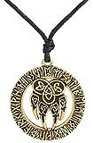 Wicca - Collar con diseño de paja de oso de animal religioso, nudo irlandés, norso vikingo de 24 amuletos