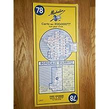 carte routière michelin n°78 BORDEAUX - BIARRITZ