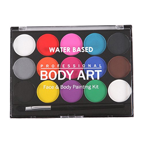 Farbpalette Schminkset Kinderschminke Schminkpalette Gesichtsfarben Körperfarbe Schminkfarben für Erwachsener Kinder Fasching Karneval Halloween Make-Up (Party Palette Gesicht Malen Kit)