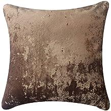 Zuodu - Federa decorativa per cuscino da divano, in velluto pesante extra morbido, stile country, 1 pezzo singolo, 45 x 45 cm Ice velvet-gold