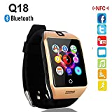 Acer Compatible Certified Bluetooth Smart Watch GT08 Wrist Watch Phone with Camera & SIM Card Support Hot Fashion New Arrival Best Selling Premium Quality Lowest Price with Apps like Facebook, Whatsapp, QQ, WeChat, Twitter, Time Schedule, Read Message or News, Sports, Health, Pedometer, Sedentary Remind & Sleep Monitoring, Better Display, Loud Speaker, Microphone, Touch Screen, Multi-Language, Compatible with Android iOS Mobile Tablet PC iPhone-SILVER BY MOBIMINT