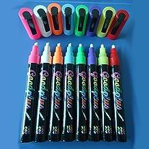 8 Rotuladores fluorescentes Gruesos 10mm, Pizarra LED luminosa, RGB, acrílica ENTREGA 1-3 DÍAS