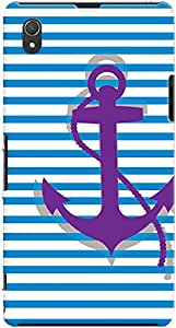 Kasemantra Purple Anchor Case For Sony Xperia Z1