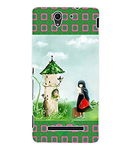 ColourCraft Girly Back Case Cover for SONY XPERIA C3 D2533