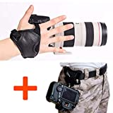 WITHLIN fotografia Kit - vita cintura fibbia pulsante + fotocamera Grip cinturino da polso per fotocamera reflex DSLR (Canon Nikon Sony Pentax Olympus, ecc.)