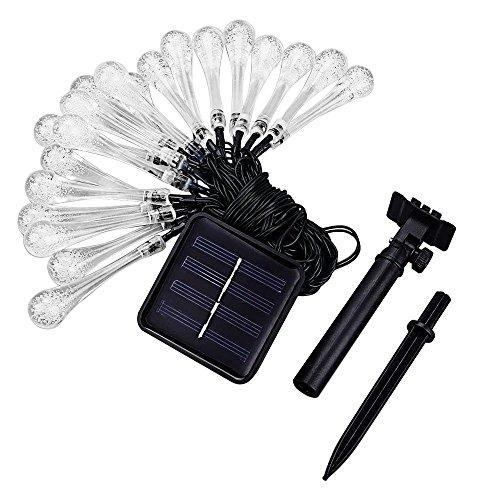 Hof Blauer (Gosear 5m 20-LED Solar Powered Wasser Tropfen Style LED Licht String Weihnachtsbeleuchtung Garten Hof Weihnachten Dekoration Lichterkette Blau)
