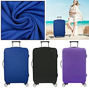 Cabin Hand Luggage Suitcase Cover Candy Colour 3 Wheeled Travel Case Bag S M L