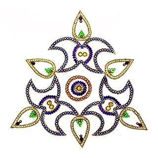 Amba Handicraft Rangoli/home decor/Diwali/gift for home/interior handcrafted/floor stickers/wall stickers/wall decoration/floor decoration/new year gift/party. RANGOLI 038