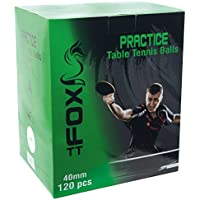 Fox TT Practice Table Tennis Balls (Pack of 120) - White