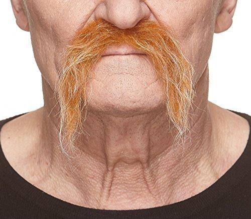 arbener Fu Manchu mit weißr fälschen, selbstklebend Schnurrbart ()
