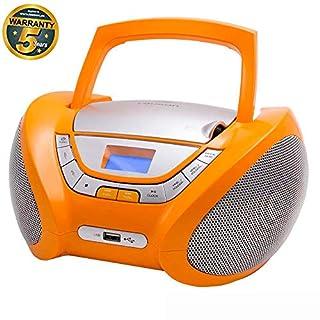 LAUSON CP447 CD Player USB | Stereoanlage Boombox | CD Radio Tragbar | Kinder Radio mit Cd Spieler | Usb kopfhöreranschluss | Cd Player für Kinder (Orange)
