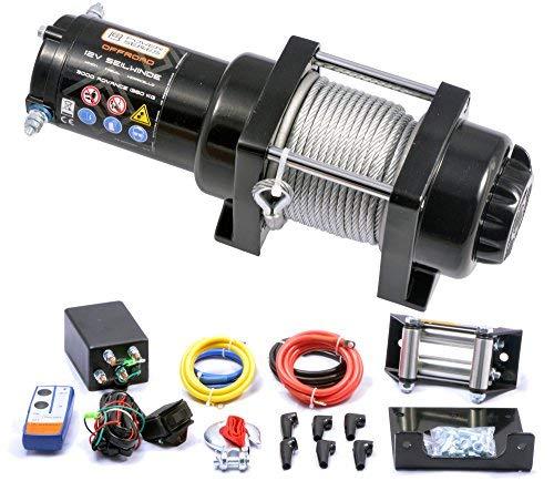 Power Series® 12V Elektrische Seilwinde 3000 Advance mit Funkfernbedienung und Handschalter - Zugkraft 1360 kg (Stahlseil) / 2720 kg (mit Umlenkrolle)