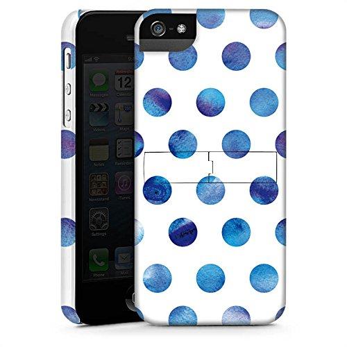 Apple iPhone X Silikon Hülle Case Schutzhülle Punkte Dots Wasserfarbe Premium Case StandUp
