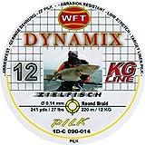 WFT Round Dynamix Pilk yellow 220m, geflochtene Schnur zum Meeresangeln, Angelschnur für Norwegen, Durchmesser/Tragkraft:0.14mm / 12kg Tragkraft