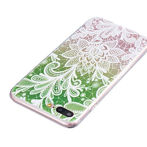 Voguecase® für Apple iPhone 6 Plus/6S Plus 5.5 hülle, Schutzhülle / Case / Cover / Hülle / TPU Gel Skin (Weiße Blumen und Schmetterlinge 01) + Gratis Universal Eingabestift Bunt Lace Blume