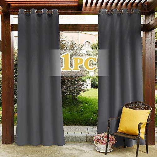 Pony dance tende lunghe da sole per esterni gazebo idrorepellente grigie/tendaggi termiche isolanti antimoche interni salotto ufficio bagno, 1 panello, 132 x 213 cm (l x a)