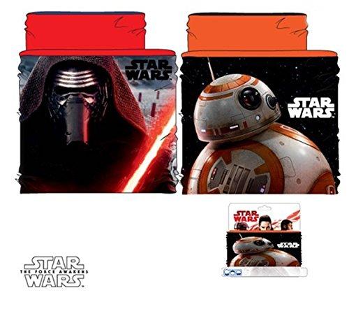 Bufanda braga de cuello diseño Star Wars (Disney) forro rojo