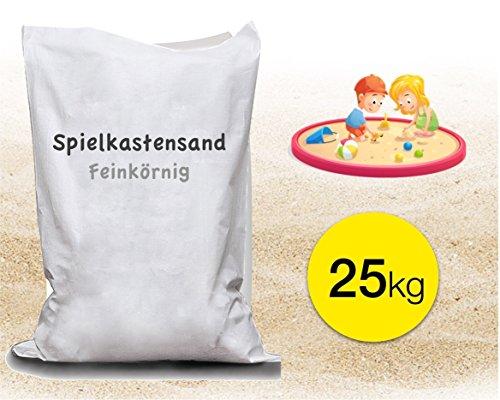 TK Gruppe Timo Klingler 25 kg Sand Spielsand für Sandkasten Kindersand Sandkastensand 0 - 0,2 mm Spielsand für Kinder