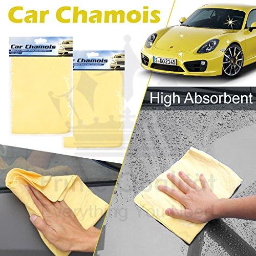 Détails de voiture Séchage Nettoyage Chamois - Duster Linge pour Vehicle- Idéal pour les vélos, voitures, maisons de moteur, Caravan- un Séchage facile
