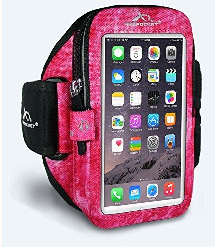 Armpocket® Mega i-40 Armband für iPhone 6S Plus, Samsung Galaxy Note 4 oder vergleichbar große Telefone bis 165 mm Höhe