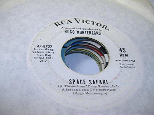 HUGO MONTENEGRO 45 RPM Space Safari / Theme From Bunny Lake Is Missing (Für Safari Themes)