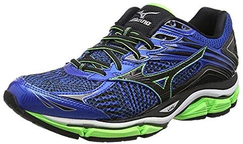 Mizuno Wave Enigma 6, Chaussures de Running Compétition homme - Bleu - Blue (Skydiver/Black/Green Gecko Viscotech), 44 EU