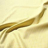 Stoff Baumwolle Vichy Karo gelb weiß 2,5 mm Swafing