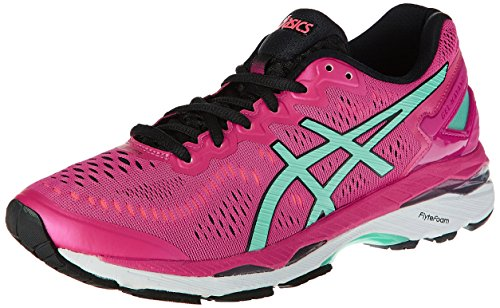 Asics Women's Gel-Kayano 23 Sport Pink, Aruba Blue and Flash Coral Running Shoes -5 UK/India (38 EU)(7 US)  available at amazon for Rs.6073