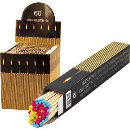 2 x 60 Stück Grillstreichhölzer Kamin Streichhölzer, 27-28 cm, rote Köpfe, Grill-Streichhölzer Kaminstreichhölzer - Grill Kopf