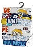 Die Minions Boxershorts - Shorts Doppelpack - 2 Stück (4-5 Jahre, Soccer)