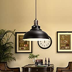 Lámpara de techo Danspeed colgante de hierro retro industrial vintage, lámpara de araña para decoración